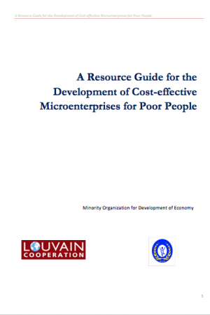 A Resource Guide for the  Development of Cost-effective Microenterprises for Poor People